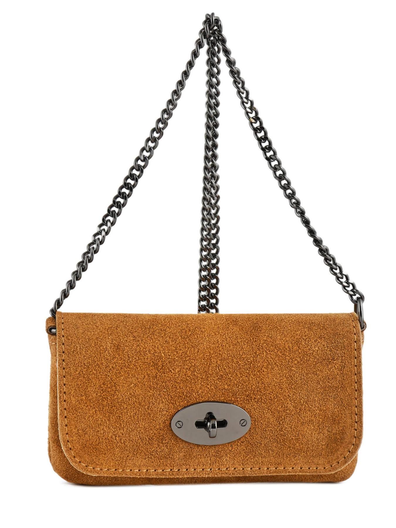 f251f36b27db ... Crossbody Bag Velvet Leather Milano Brown velvet VE700 ...