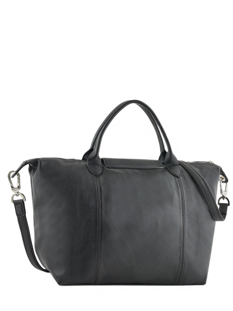 1160dcd433 ... Longchamp Le pliage cuir rock Handbag Black ...