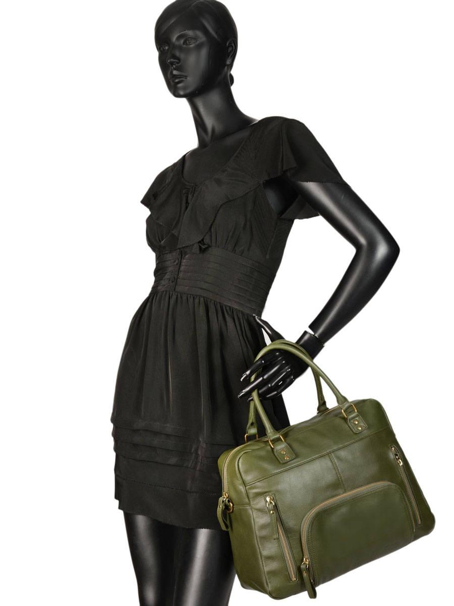 c7f9380a87 ... Shopping Bag Vintage Leather Nat et nin Beige vintage MACY other view 2  ...