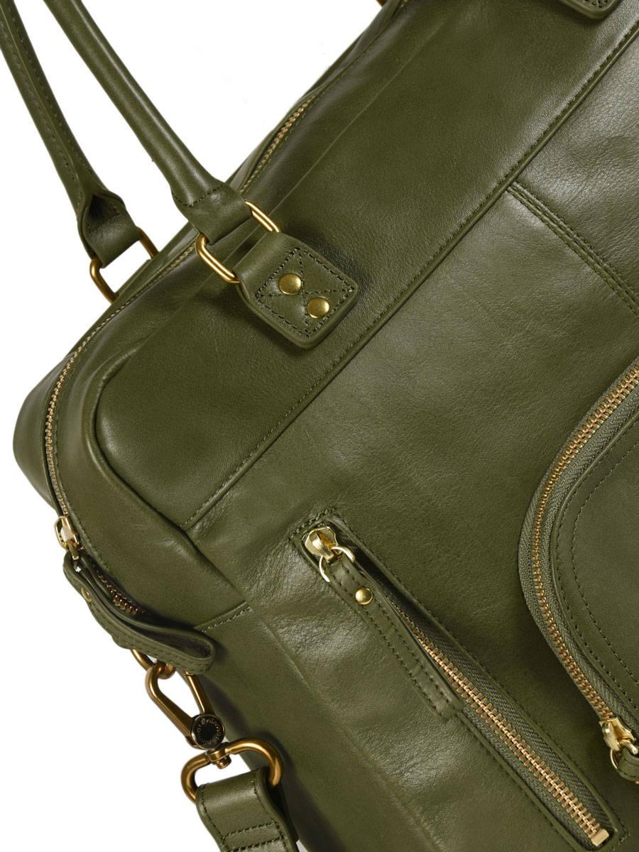 ffd6dbe5e3 ... Shopping Bag Vintage Leather Nat et nin Beige vintage MACY other view 1  ...