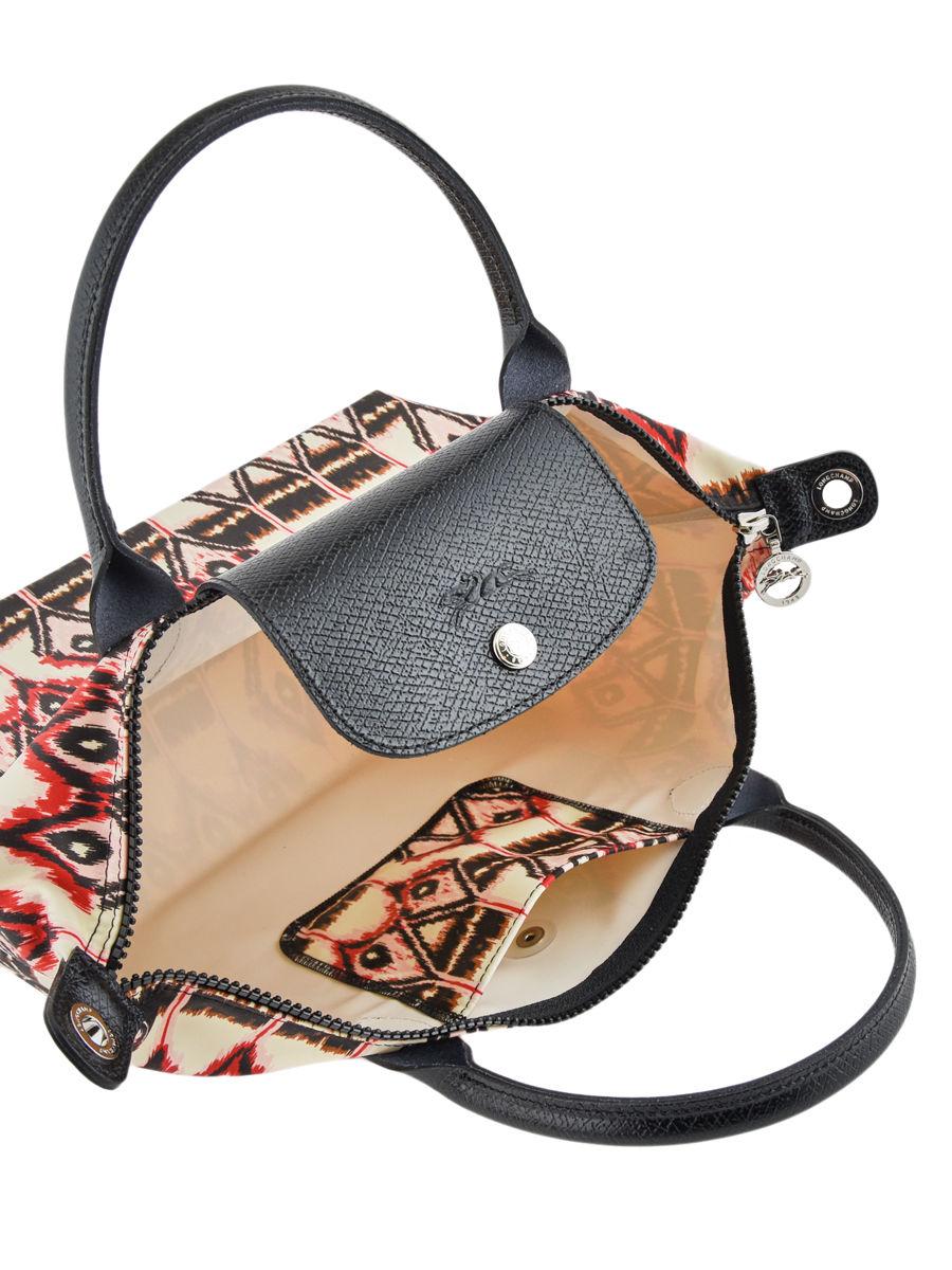 Longchamp Le pliage ikat Handbag Beige ... cd6eea809edac