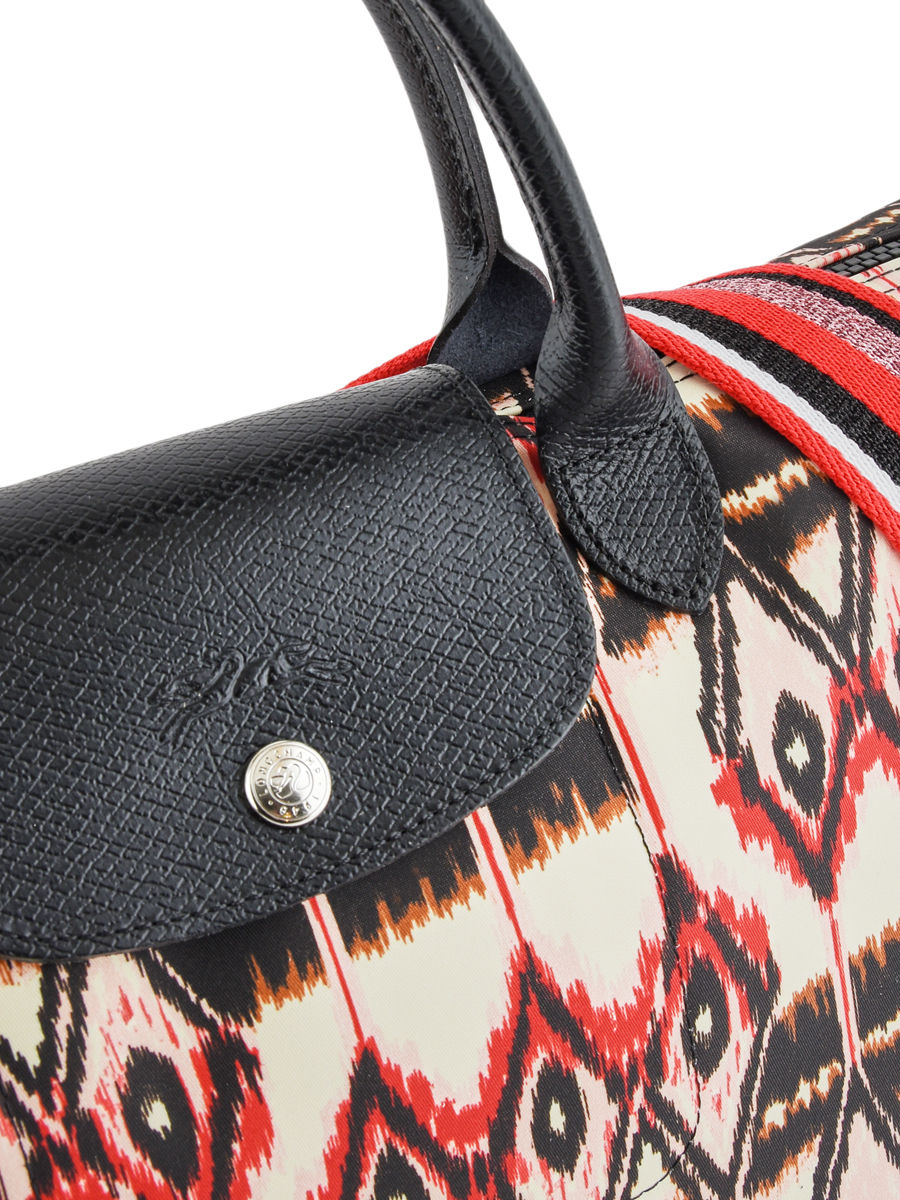 ... Longchamp Le pliage ikat Handbag Beige ... 6263058e137d1