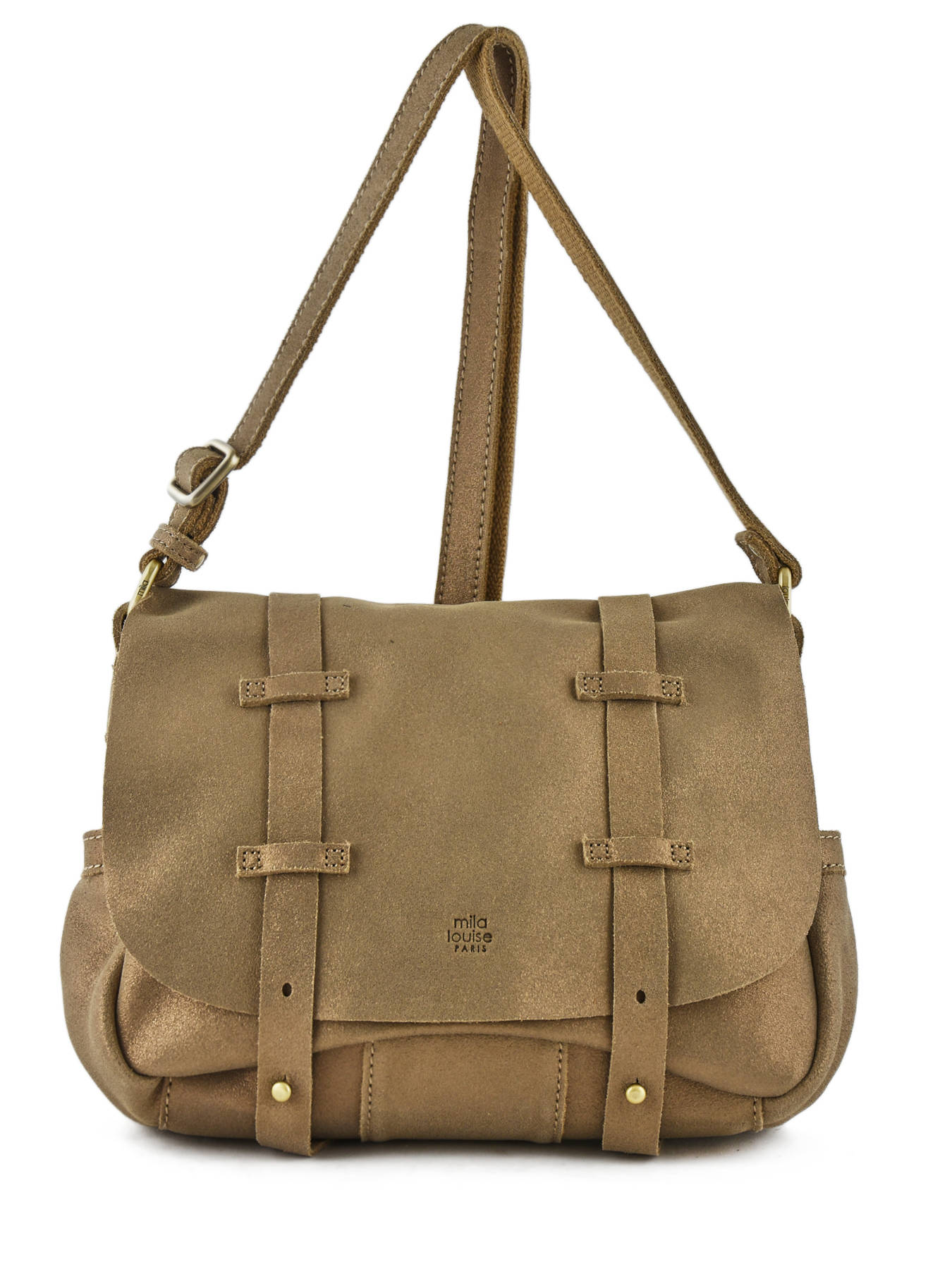 1881fbc193e1 ... Shoulder Bag Vintage Leather Mila louise Beige vintage 3017S ...