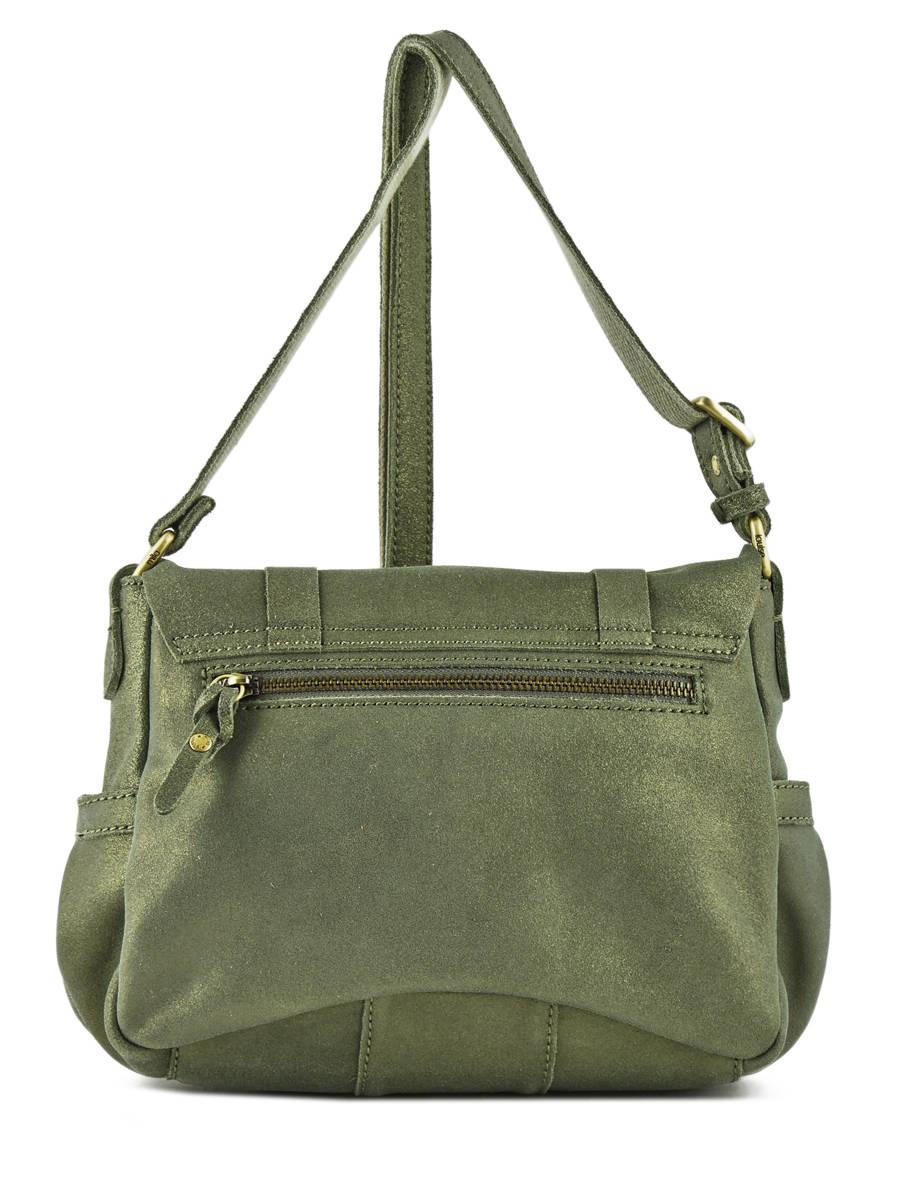3a609164bd396 ... Shoulder Bag Vintage Leather Mila louise Green vintage 3017S other view  3 ...