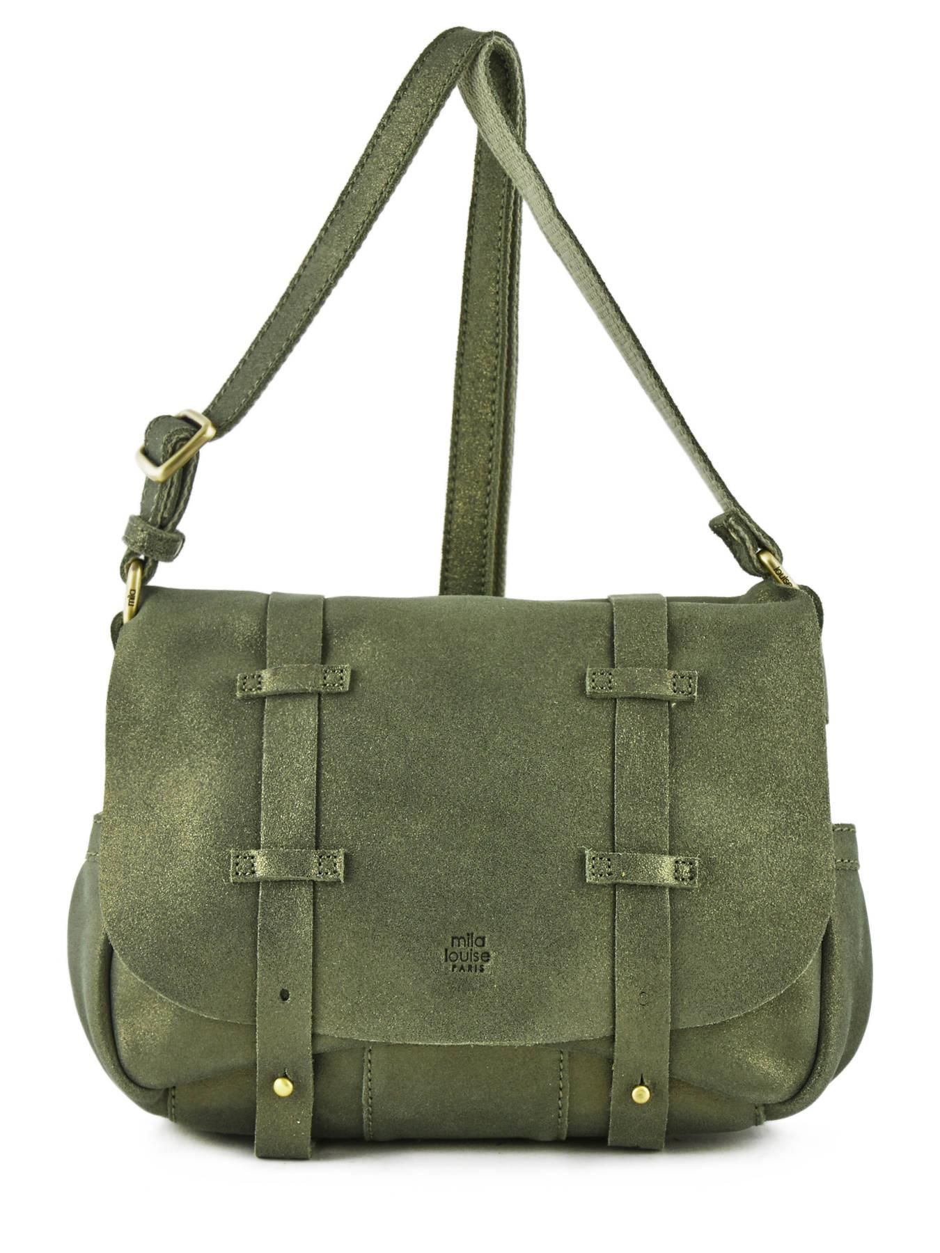 1cd426ff60aab ... Shoulder Bag Vintage Leather Mila louise Green vintage 3017S ...