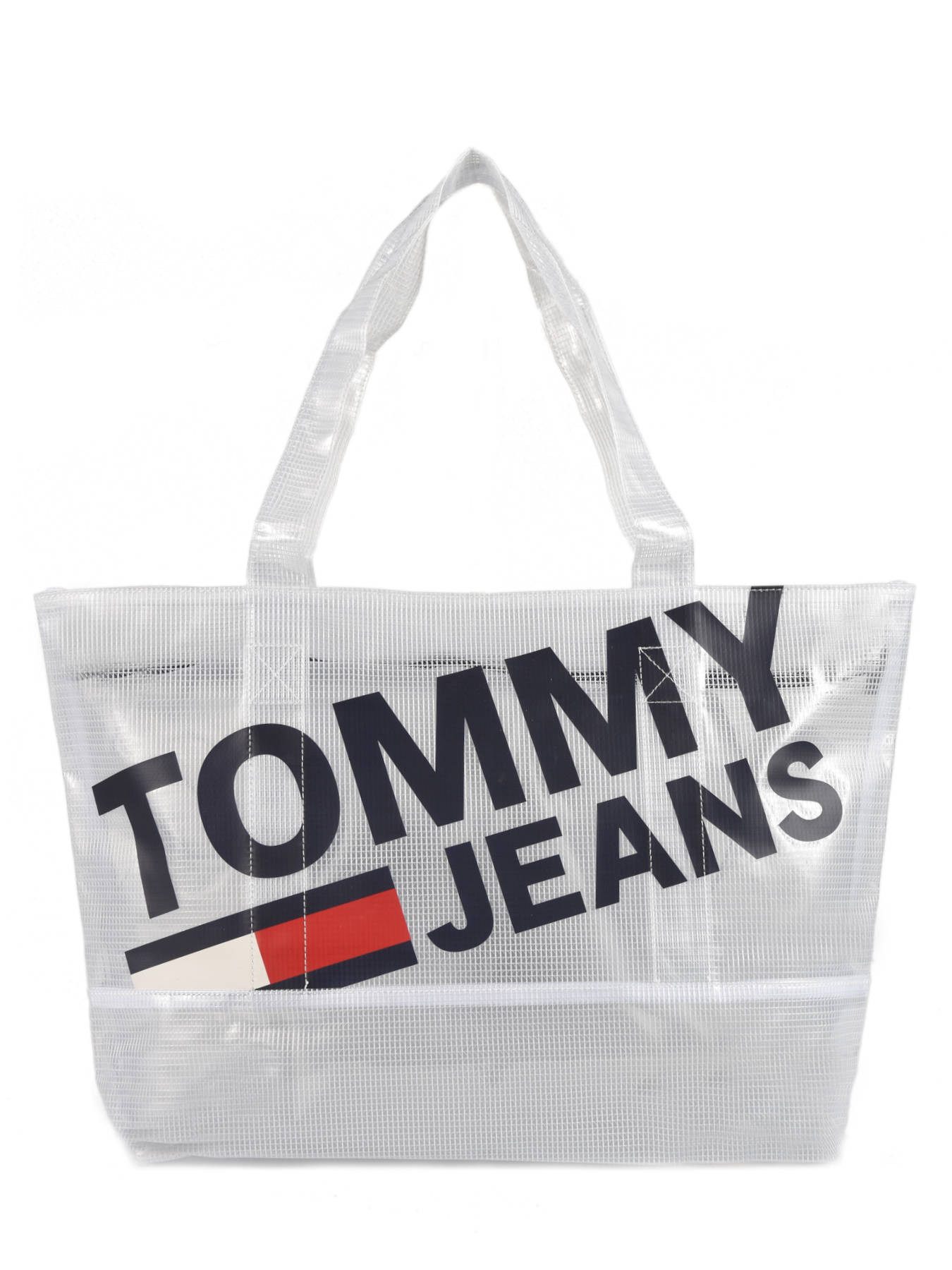 76cce35b39 ... Semi-transparant Shoulder Bag A4 Tommy Jeans Tommy hilfiger White tju  AU00590 ...