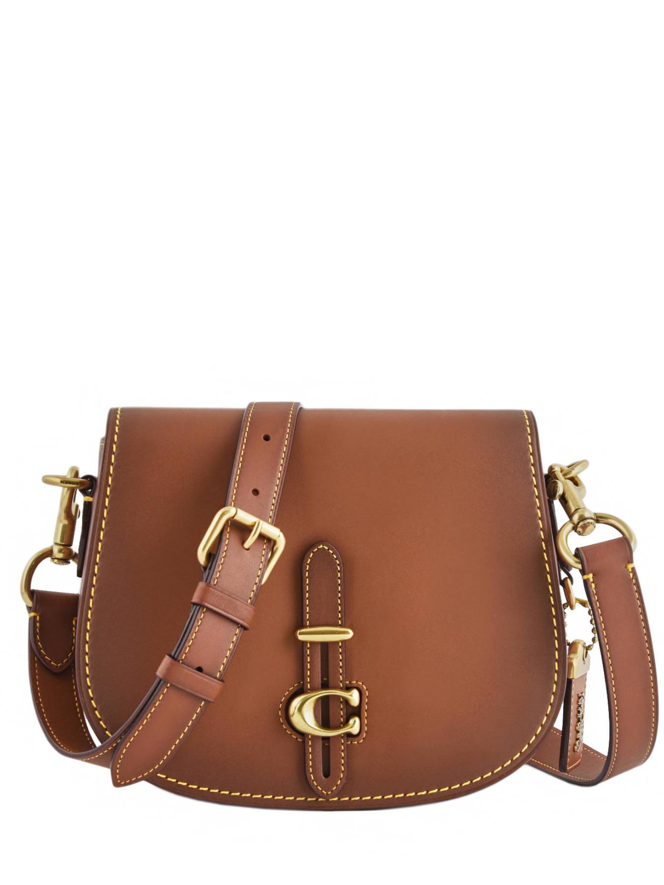 26c9ea355be1 ... Crossbody Bag Saddle Bag Leather Coach Brown saddle bag 54202 ...