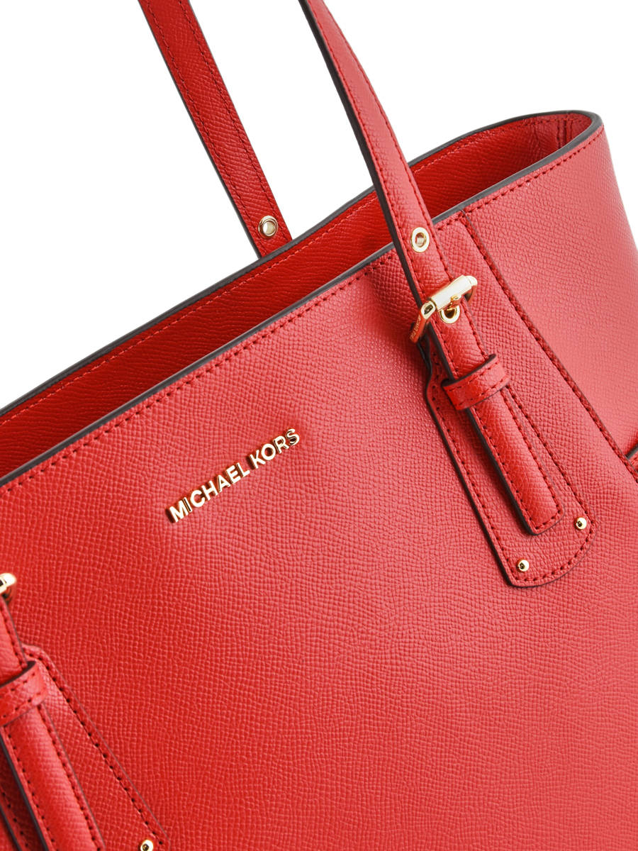 cb15fa30661a ... Large Leather Tote Bag Voyager Michael kors Red voyager H7GV6T9L other  view 1 ...