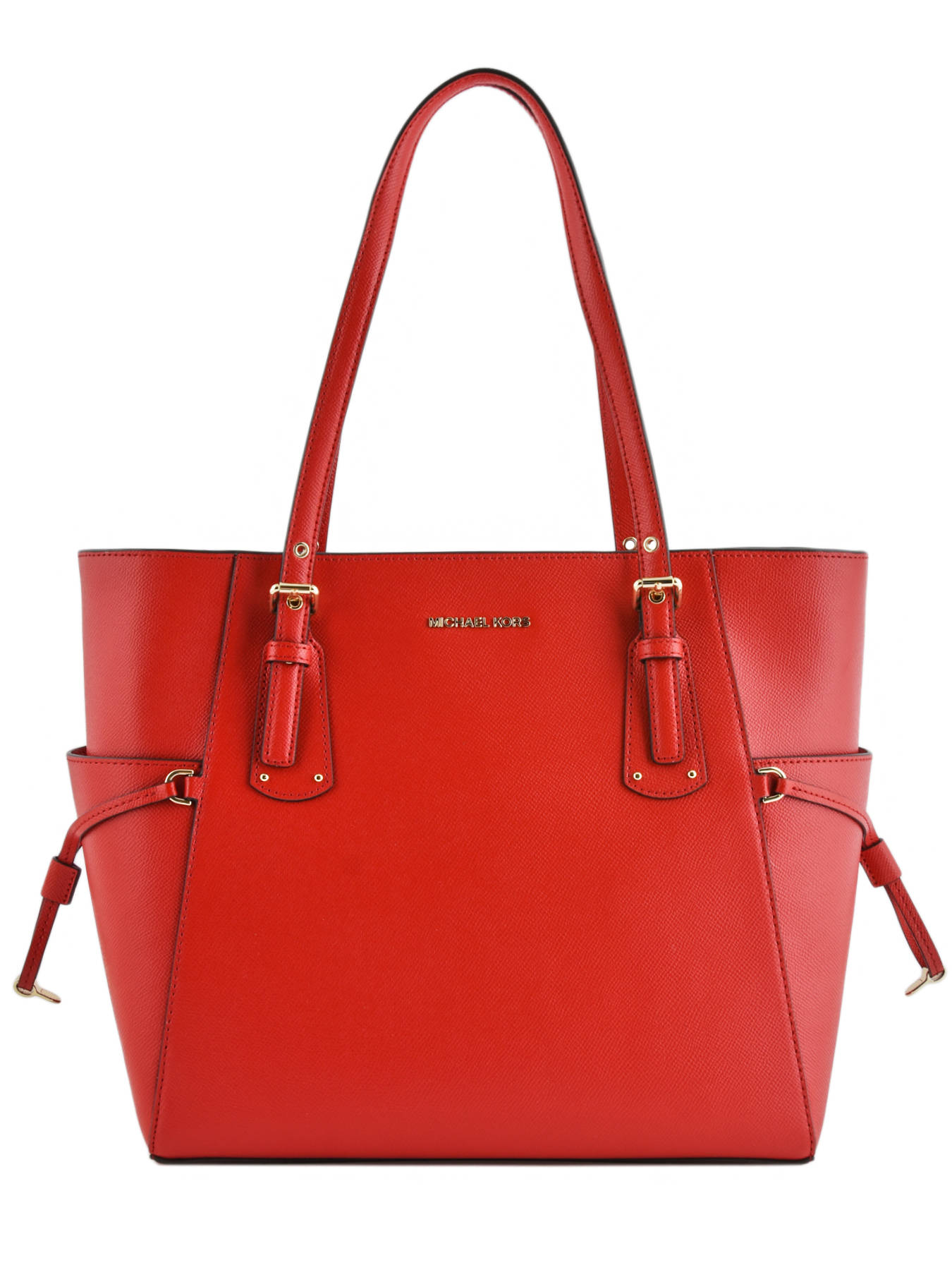 924b9e836623 ... Large Leather Tote Bag Voyager Michael kors Red voyager H7GV6T9L ...