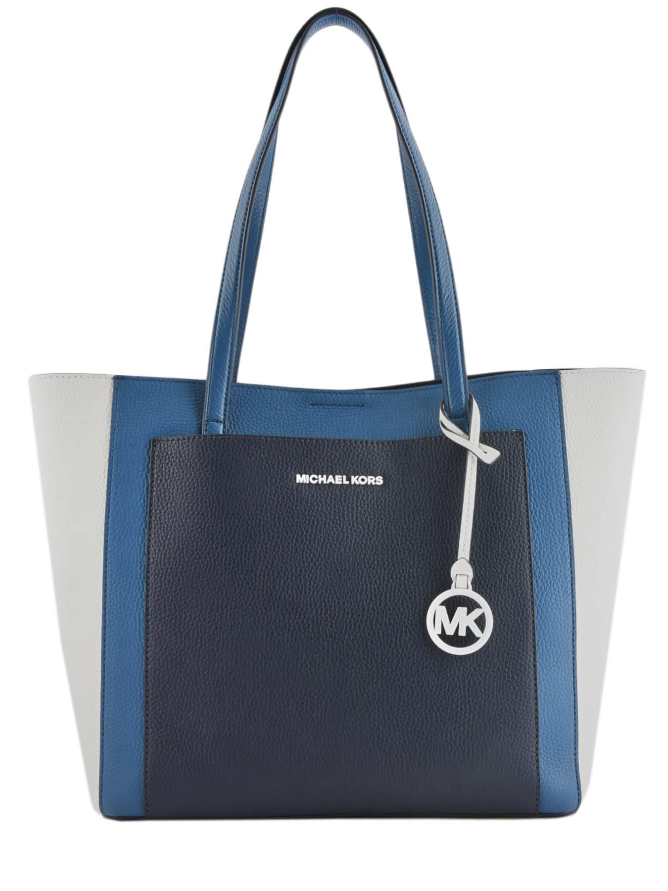 e908535d4c32 ... Anette Leather Tote Bag Michael kors Blue anette S9LGXT3T ...