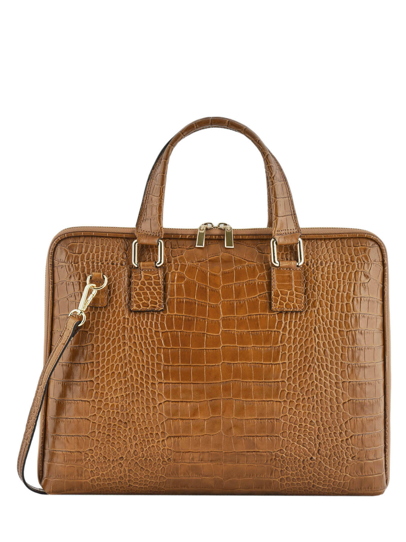 Leather Croco briefcase MILANO
