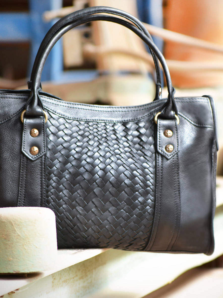 BASILIC PEPPER Sac Port/é Main Dynamic Cuir femme style vintage en promo