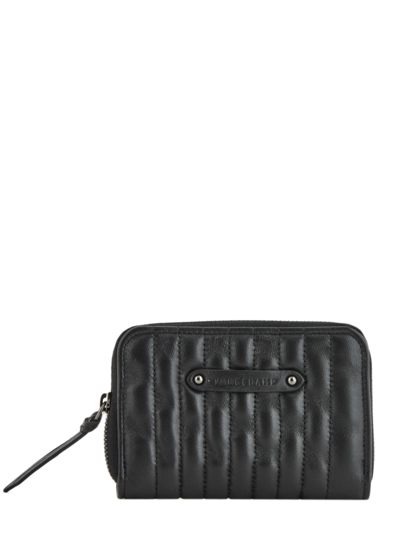 Portefeuille compact Amazone Noir (L3615941001) | Longchamp FR