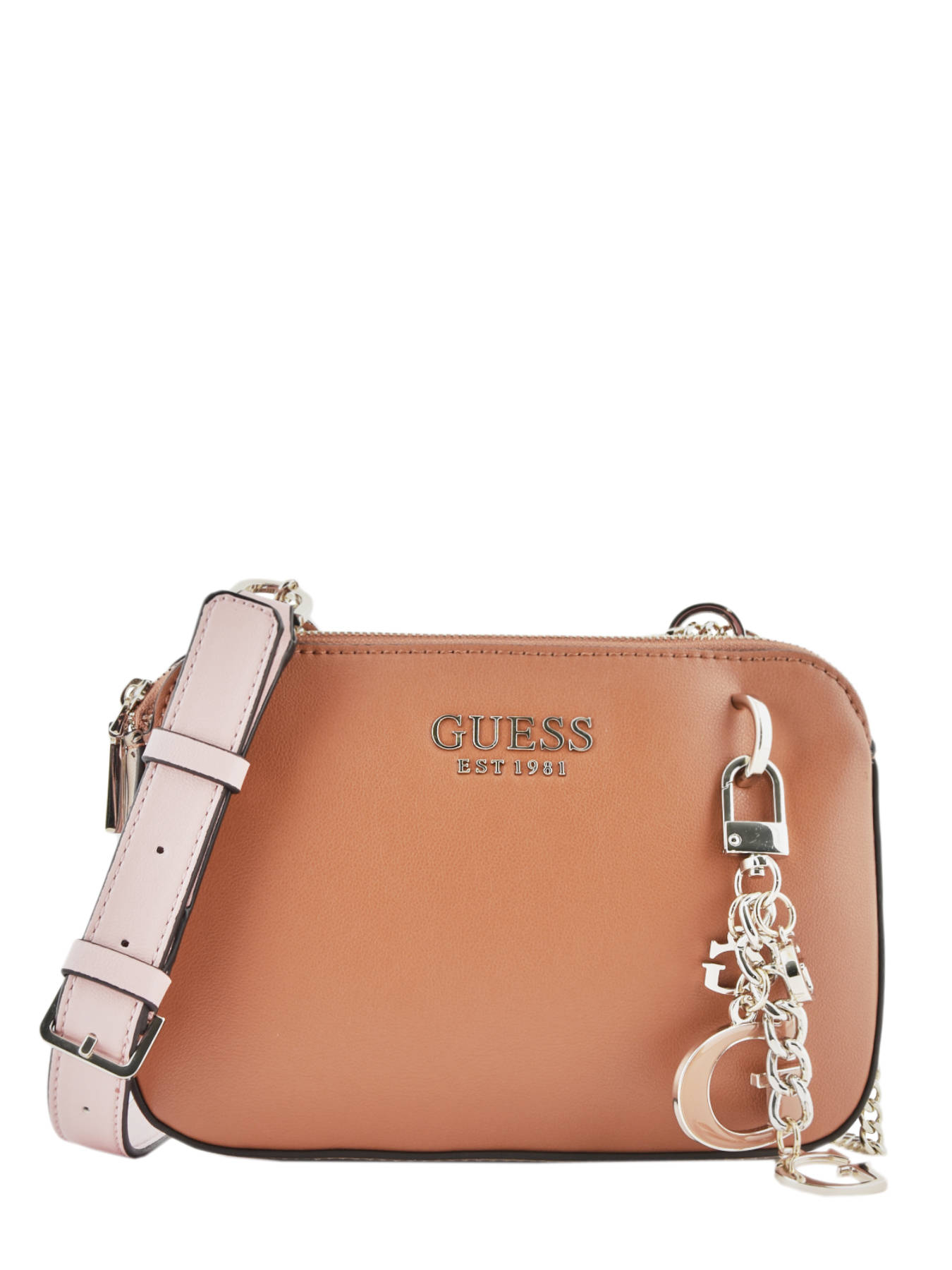 sac a bandouliere guess marron