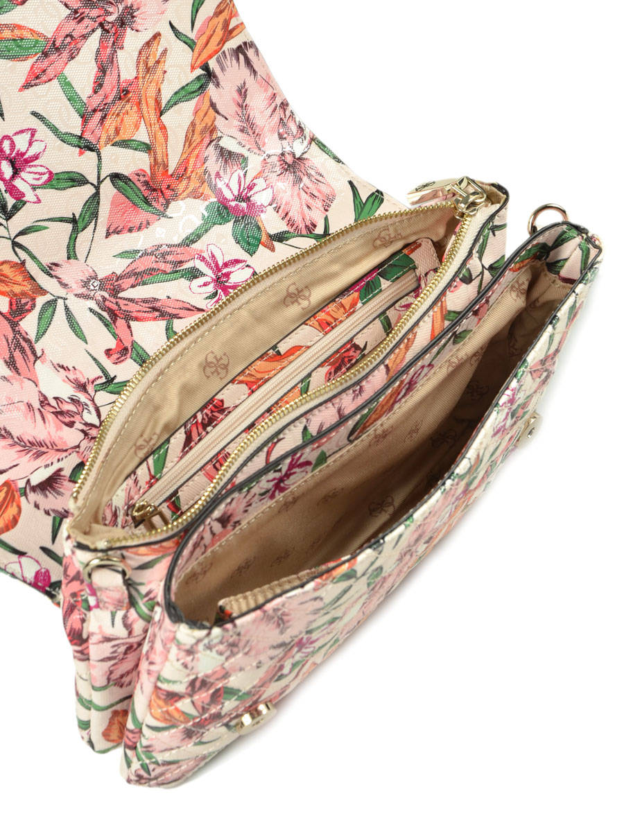 sac bandouliere floral guess