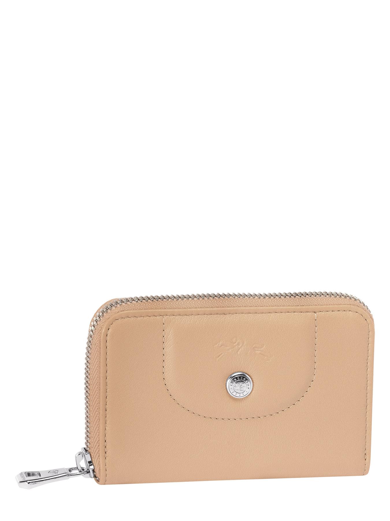 Porte monnaie longchamp le pliage cuir beige dor en vente au meilleur prix - Porte monnaie femme longchamp ...