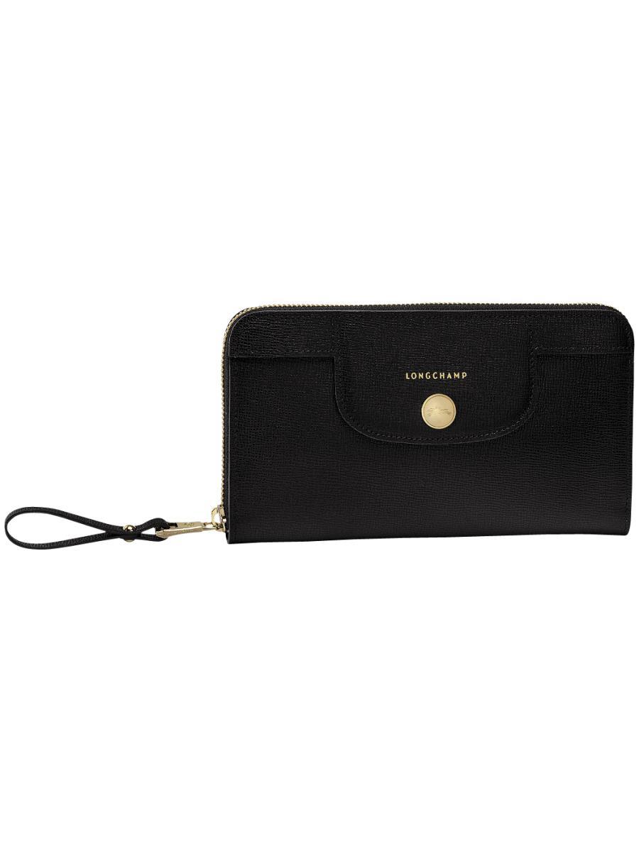 Longchamp Le pliage héritage Wallet Black