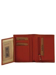 Wallet Leather Katana Yellow vachette gras 853046-vue-porte