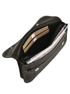 Purse Leather Foures Black 9207-vue-porte