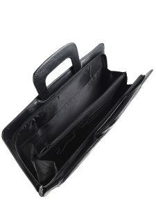 Briefcase Miniprix Black classic YB062-vue-porte
