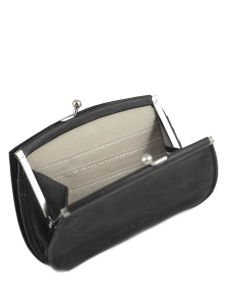 Purse Leather Nat et nin Black vintage HOPE-vue-porte
