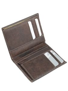 Wallet Leather Francinel Brown bixby 69944-vue-porte