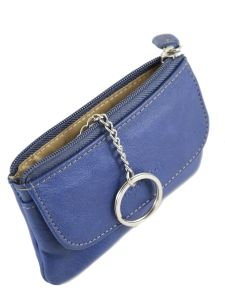 Key Holder Leather Katana Blue vachette gras 853120-vue-porte