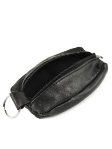 Purse Leather Petit prix cuir Black basic 0085-vue-porte
