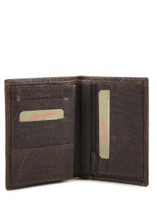 Wallet Leather Gerard henon Brown sahara 3761-vue-porte