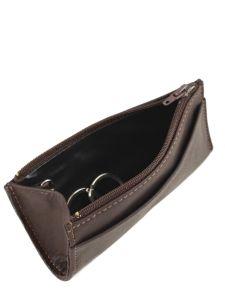 Key Holder Leather Etrier Brown E5256-vue-porte