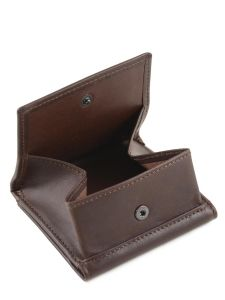 Purse Leather Etrier Brown dakar 200096-vue-porte