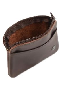 Purse Leather Etrier Brown dakar 200339-vue-porte