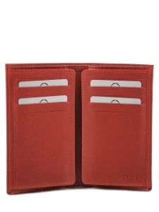 Card Holder Leather Etrier Red dakar 200006-vue-porte