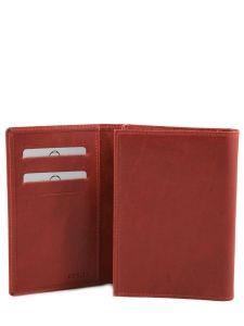 Porte-papiers Cuir Etrier Rouge dakar 200024-vue-porte