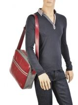 Crossbody Bag A4 Fred perry Red authentic L1180-vue-porte
