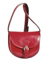 Shoulder Bag Collet Leather Milano Red collet 022