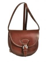 Shoulder Bag Collet Leather Milano Brown collet 022