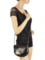 Crossbody Bag Collet Leather Milano Black collet 021-vue-porte
