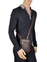 Crossbody Bag Serge blanco Brown new roma NRO13004-vue-porte