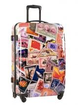 Valise 4 Roues Rigide Travel Multicolore print shinny PT5001-L
