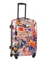 Valise 4 Roues Rigide Travel Multicolore print shinny PT5001-M