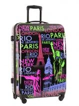 Koffer 2 Wiel Travel Veelkleurig print shinny PT5006-L