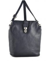 Mini-bag  Leather Milano Blue 122