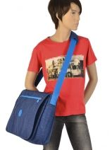 Crossbody Bag A4 Kipling Blue back to school 15379-vue-porte