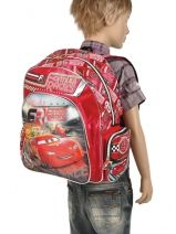 Backpack 1 Compartment Cars Black formula racers 22210-vue-porte