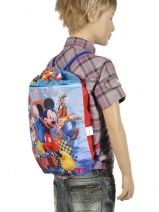 Sac à Dos 1 Compartiment Mickey Multicolore turn up 50428-vue-porte