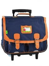 Cartable A Roulettes 2 Compartiments Tann's Bleu kid classic 14TCA41