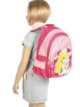 Backpack 2 Compartments Miniprix Pink girl 7710-PRI-vue-porte