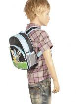 Backpack 2 Compartments Miniprix Black boy 7710-FOO-vue-porte