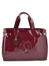 Shopping Bag Vernice Lucida Patent Armani jeans Red vernice lucida 5291-55